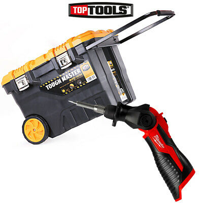 Milwaukee M12SI 12V Cordless Soldering Iron With 28'' Tool Box Chest on Wheel
