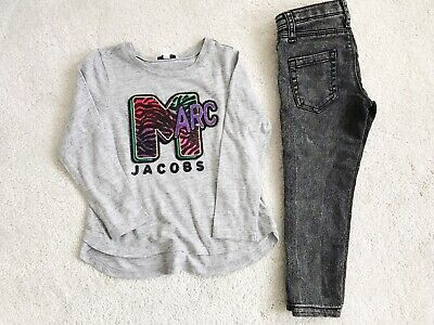 Marc Jacobs Top Grey Jeans Bundle Outfit Designer Set Size 2-3 Years