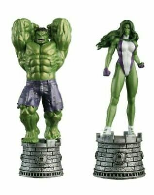 Marvel Eaglemoss Special Edition 1 Hulk & She-Hulk (Hero Rooks) Chess Collection