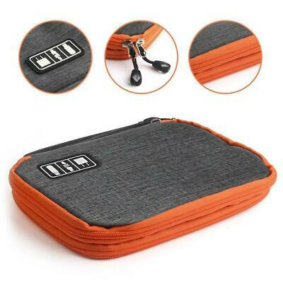 Layer Drive Cable Case Bag USB Electronic Organizer Storage Pouch Gadget V2N7