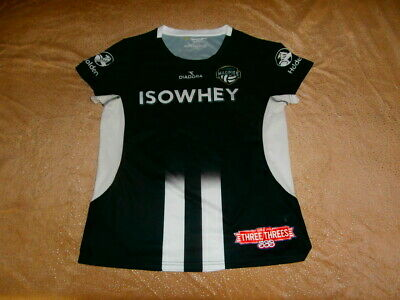 Suncorp Super MAGPIE Netball Collingwood Magpies RARE JERSEY SZ 14