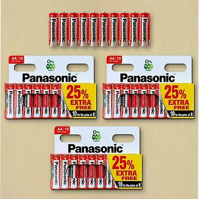 30X Panasonic Genuine AA Batteries  1.5V LR6 MN1500 Battery AM R6