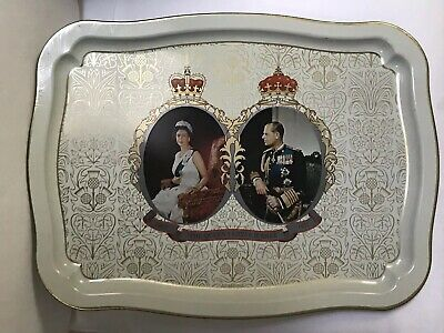 The Queen Silver Jubilee 1952 - 1977 Collectable 43X 32 Cm Tin Tray