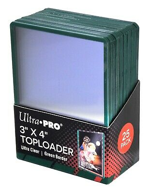Ultra Pro - Green Border - Toploaders Clear Card Sleeves MTG Pokemon - (25-150)