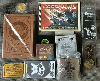 QMX Firefly collectibles - Journal, Pocket watch, Flask, dedication plaque