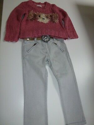 NEXT Girls Jumper & Jeans Set - Size 3-4 Years