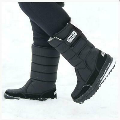 Men's Warm Snow Boots Outdoor  Fur Shoes Waterproof Mid-Calf Moon Boots