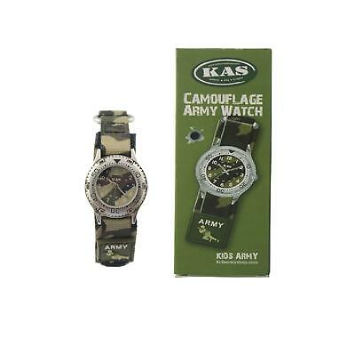 KAS Kids Army Camouflage Watch Boys Soldier Military Camo Style