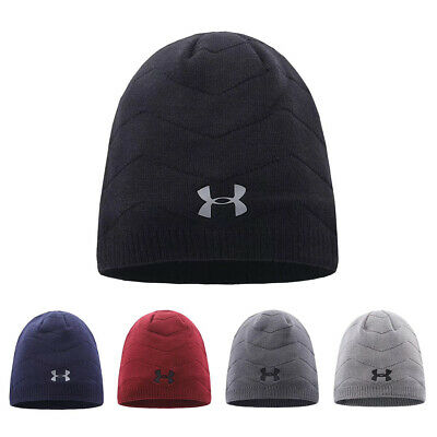 Under Armour knitted Hat Wave Stripe Beanie UA Winter Warm Sport Cap Xmas Gift
