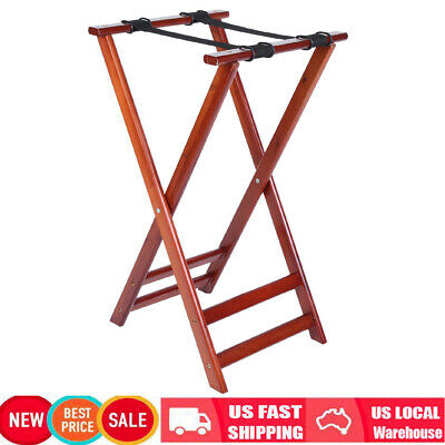 Wood Pine Portable Travel Folding Luggage Suitcase Rack Stand for Home Hotel