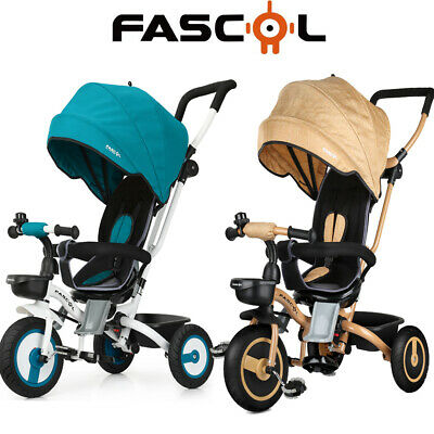 Fascol Baby Dreirad 4 in 1 Kinderdreirad Tricycle Dreiräder mit Becherhalter DHL