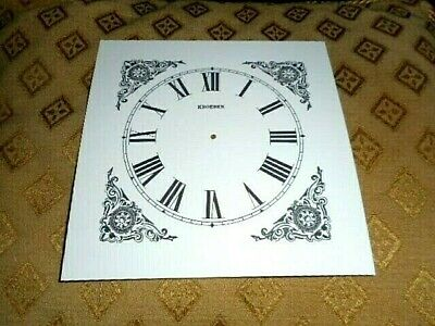 "Kroeber Shelf/Mantle Paper (Card) Clock Dial - 4 1/2"" M/T - Black Design - Parts"