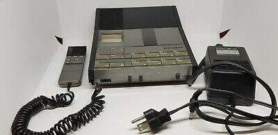 Dictaphone 3730 Micro Cassette Transcriber w/ Power Cable and mic UNTESTED