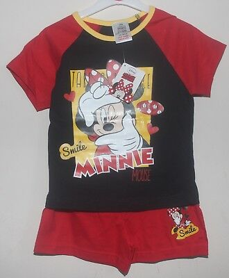 Girls Disney MINNIE MOUSE Shorty Pyjamas/ Pyjama Shorts Set/Summer PJs 4-8 years