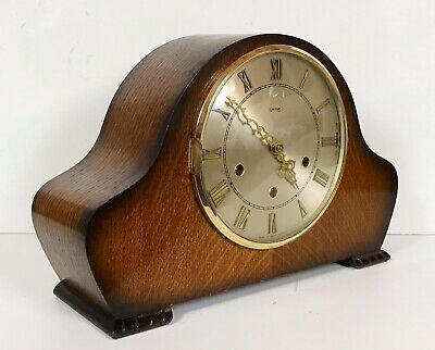 Smiths Oak Westminster Whittington Chiming Mantle Clock