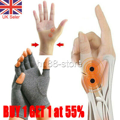 Magnetic Arthritis Gloves Wrist Hand Thumb Support PainRelief Finger Compression