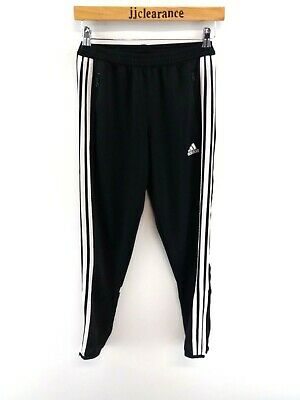 ADIDAS Boys Tracksuit Bottoms Joggers Youth Large W28 L28 Black Polyester