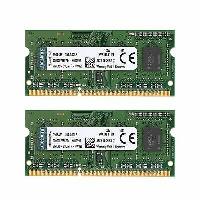16GB 2x 8GB DDR3L-1600M​Hz Laptop Memory PC3L-12800 Notebook SO-DIM For Kingston