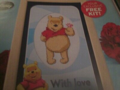 'With Love From Pooh' Winnie The Pooh Small Cross Stitch Chart Only