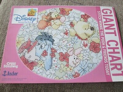 'Winnie The Pooh Giant Cross Stitch Chart Only