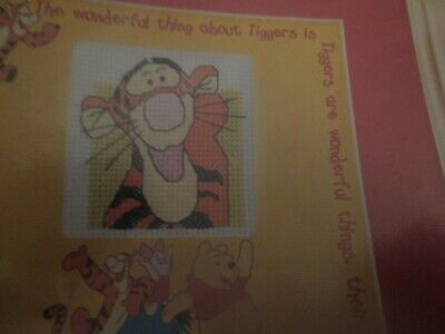 'Cute Tigger' Winnie The Pooh Small Cross Stitch Chart Only