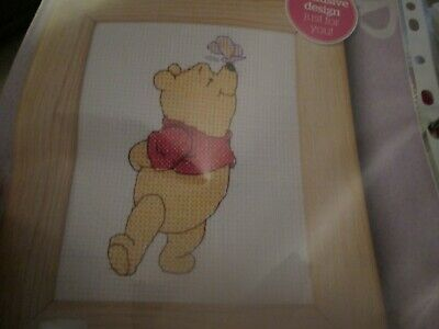 'Butterfly Kiss For Pooh' Winnie The Pooh Cross Stitch Chart Only