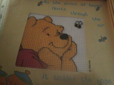 'Bee Happy' Winnie The Pooh Small Cross Stitch Chart Only