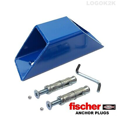 Blue Anchor Set  Motorcycle Motorbike Bike  Solid Security  Ground Wall Anchor