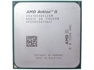 Amd Athlon II X4 610e 2.4GHz Quad Core AM3 Desktop Procesador CPU AD610EHDK42GM