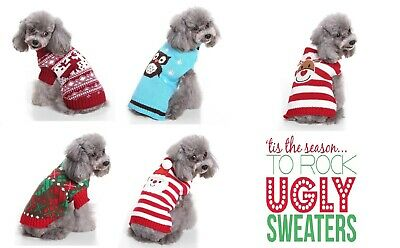 Christmas Holiday Pet Dog Puppy Cat Ugly Sweater Small High Quality Hand Knit