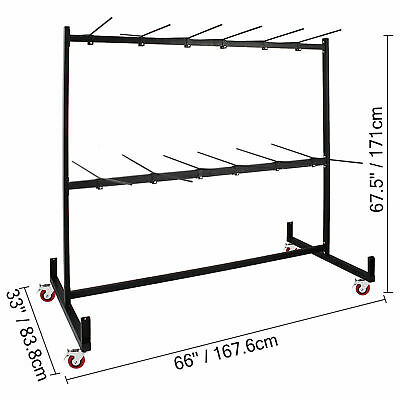 Two-Tier Folding Chair Rack Dolly Cart 50 Chairs Folding Chair Cart Storage Rack
