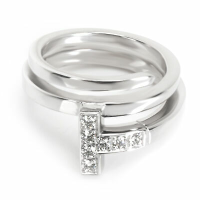 Tiffany & Co. T Square Wrap Diamond Ring in 18K White Gold