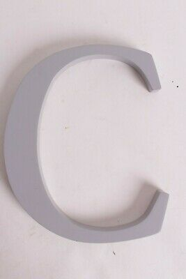 """New Pottery Barn Kids Gray uppercase wood letter """"C"""" room wall 8"""" h x 10.34"""" w"""