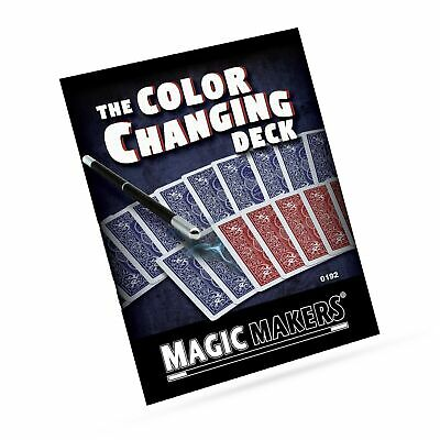 Magic Makers The Color Changing Deck - Magic Training & Bicycle Special Gimmi...