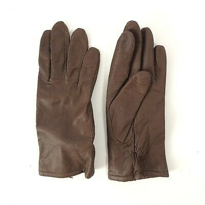 Fownes Womens Brown Soft Leather Gloves Size Large 100% Acrylic Lined Gloves