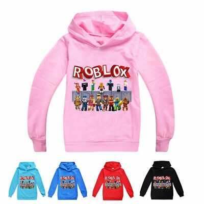 New Roblox Hoodies Kids Boys Girls Hooded Sweatshirt Autumn Jumper Tops Age 3-13