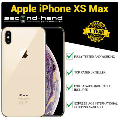 Apple iPhone XS Max 256Gb Gold - Factory Unlocked - Good - 1 Year Warranty