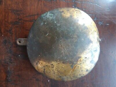 19th Century Brass Fronted Lead Pendulum Weight for Antique Longcase Clock