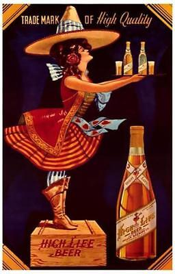 Wiedemann/'s Beer Advertisement with Cowboy 1870s Poster in 3 Sizes