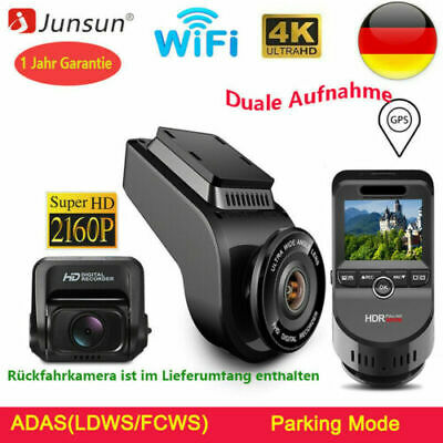 Junsun GPS WiFi Autokamera Dashcam 4K Ultra 2160P DVR Nachtsicht Video Recorder