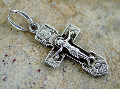 Russian Silver Cross Sterling, Jesus Christ, Orthodox, Old, Russia, Rare!!!