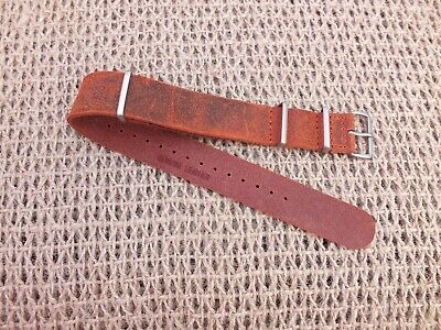 Genuine Leather G10 Rusty Brown Leather watch strap 20mm by Zuludiver