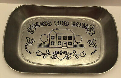 Wilton Armetale Pewter Bless This House Bread Tray