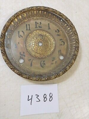 Antique Ingraham Mantle Clock Dial & Bezel With Glass