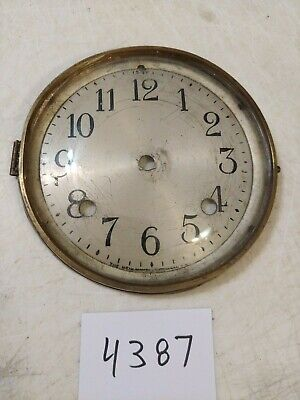 Antique New Haven Mantle Clock Dial & Bezel With Glass