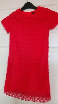 GIRLS DRESS AGE 6-7 YEARS PINK CORAL Party Summer Holiday M&S Beautiful VGC