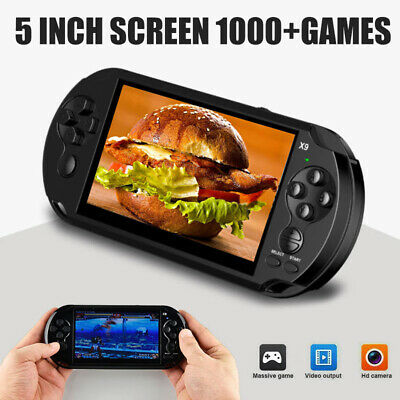 Portable X9 Handheld Video Game Console 128 Bit Built In Gamed Kids Player Black