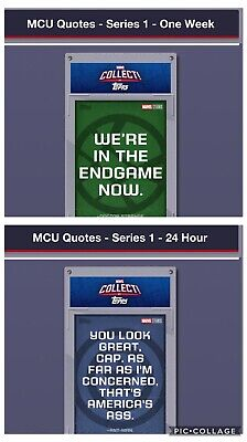 Topps Marvel Collect Card Trader MCU Quotes Series 1 Set of 9 + 24hr/Set Awards