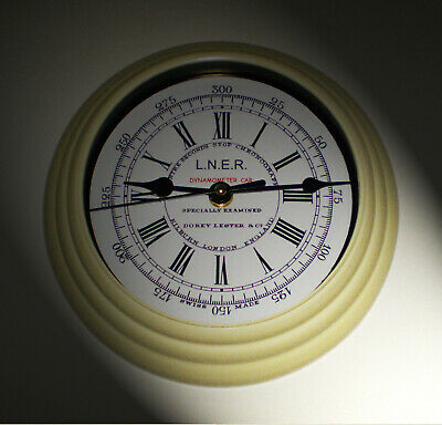 LNER Railway Vintage Style Dynamometer Stop Watch Clock, Mallard 126 mph Record