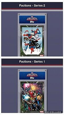Topps Marvel Collect Card Trader Factions Series 1 & 2 Set of 12 PLUS 2 Awards
